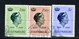 LUXEMBOURG  -  1959  Grand Duchess Charlotte  Set  Used As Scan