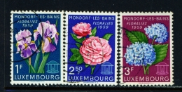 LUXEMBOURG  -  1959  Flowers  Set  Used As Scan
