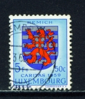LUXEMBOURG  -  1959  Welfare Fund  5f+50c  Used As Scan