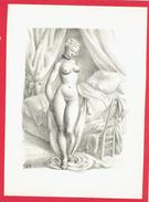 GRAVURE EROTIQUE VERS 1950 SIGNEE S. B. EN TRES BON ETAT - Estampes & Gravures