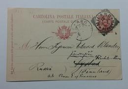1894 INTERO POSTALE X ESTERO FINLANDIA DA MILANO A NYSTAD (130) - 1878-00 Umberto I