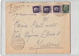 2654 POSTUMIA GROTTE X MODENA - ESPRESSO - 1900-44 Vittorio Emanuele III