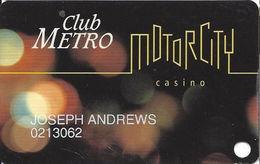 Motor City Casino - Detroit, MI USA - 1st Issue Slot Card - Casino Cards
