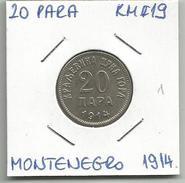 Gh6 Montenegro 20 Para 1914. KM#19 - Joegoslavië