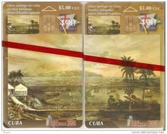 Nº 248-249 PUZZLE DE 2 TARJETAS DE CUBA DE TELEBARNA 2005  TIRADA 1000  NUEVA-MINT - Cuba