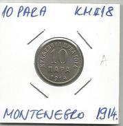 Gh3 Montenegro 10 Para 1914. KM#18 - Joegoslavië