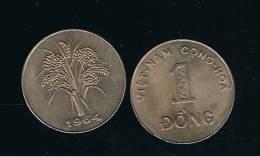 VIET NAM - 1 Dong 1964  KM7 - Rice Plant Coin - Vietnam