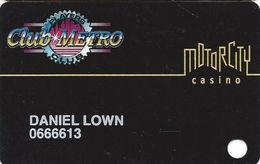 Motor City Casino - Detroit, MI USA - 5th Issue Slot Card - Smaller Logo - Casino Cards