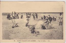 C P A 80 Somme Saint Valery Sur Sommes Sur Le Sable - Saint Valery Sur Somme