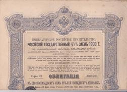 ACTIONS & TITRES - GOUVERNEMENT IMPERIAL DE RUSSIE. EMPRUNT DE L'ETAT RUSSE 4,5% 1909. - Russie