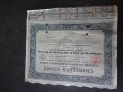 Chargeurs Réunis Obligation De 500 F 6.5% 1921 Dufour Paris - Navigation