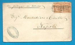ITALIE - YT#35(x2) Obl. PIROSCAFI POSTALI INTERNO S/lettre De PALERMO -1880 - 1878-00 Humbert I