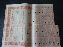 Crédit Foncier D'Afrique Bon De 100 F Au Porteur 5.5% 1929 - Afrique