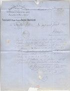 Facture De 1871 - HESDIN (Pas De Calais) - TOUZART Père Fils & COSSE VASSEUR - Fil Et Coton - Textile & Vestimentaire