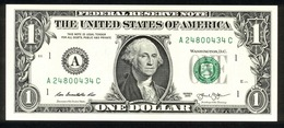 USA 2013, Federal Reserve Note, 1 $, One Dollar, A = Boston, Massachusetts, UNC, Erhaltung I - Federal Reserve (1928-...)