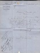 Lettre Commerciale De 1874 - ABBEVILLE (Somme) - Ets Eugène PATTE - Fers Clous Ferronnerie - France
