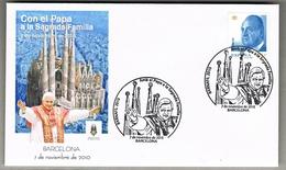 2010 - SPAGNA / SPAIN - VISITA DEL PAPA IN BARCELLONA / THE VISIT OF POPE IN BARCELONA. FDC - FDC