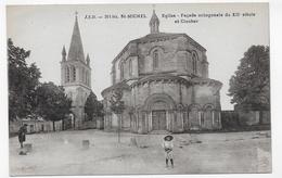 ST MICHEL D'ENTRAYGUES  - N° 311 Bis - FACADE DE L'EGLISE OCTOGONALE AVEC ENFANT - CPA NON VOYAGEE - Sonstige Gemeinden