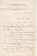Lettre D'Avoué  De 1875 - EPERNAY (Marne) - E. FLEURICOURT Successeur De M. PIETON & BLANDIN - France