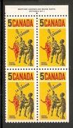003631 Canada 1968 Lacrosse 5c Plate 1 Block UR MNH - Numeri Di Tavola E Bordi Di Foglio