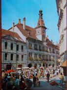 SUISSE - LAUSANNE - Hôtel De Ville Et La Place De La Palud. (le Marché) - VD Vaud
