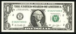 USA 2013, Federal Reserve Note, 1 $, One Dollar, B = New York, UNC, Erhaltung I - Billetes De La Reserva Federal (1928-...)