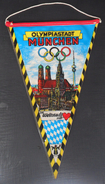 XX. OLYMPISCHE SPIELE 1972 MUNCHEN, XX. OLYMPIC GAMES 1972 MUNICH OLD PENNANT - Apparel, Souvenirs & Other