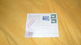 DEVANT DE LETTRE DATE ?. / GRECE. / CONSULAT DE FRANCE A ATHENES LE PIREE ET SYRA. RECOMMANDEE. / CACHETS + TIMBRES X4 - Sonstige
