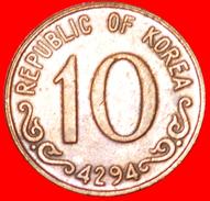 § ROSE: SOUTH KOREA ★ 10 HWAN 4294 (1961)! LOW START★ NO RESERVE! - Korea, South