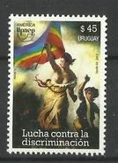 URUGUAY  2013 UPEAP FIGHT AGAINST DISCRIMINATION  MNH - Uruguay