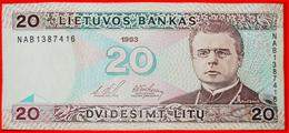 § SOCIALISM PROSPERITY: Lithuania (ex. USSR, Russia) ★ 20 LITS 1993! LOW START★ NO RESERVE! - Lituanie