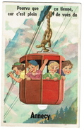Annecy - Carte à Système - Dépliant Multi-vues - Téléphérique - Circulée - 3 Scans - Annecy