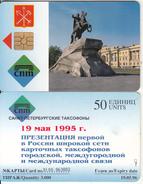 SAINT PETERSBURG - Bronze Horseman(50 Units), Tirage 3000, Exp.date 19/05/96, Used - Russia