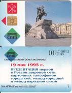 SAINT PETERSBURG - Bronze Horseman(10 Units), Tirage 10000, No Exp.date, Used - Russia