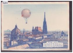 FORMAT 10x15cm - BALLON POST - FÜR DAS KINDERDORF ROTTENMANN - B ( PETIT PLI D'ANGLE ) - Fesselballons