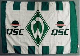 Flagge / Fahne  QSC AG  -  Material : Polyester  -  Größe Ca. 80 X 57 Cm - Reklame
