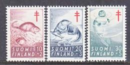 Finland  B 160-2  **  FAUNA  OTTER,  SEAL,  MUSKRAT    ANTI-TUBERCULOSIS