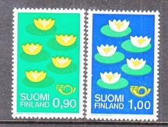 FINLAND  593-4   **   WATER  LILIES - Finland
