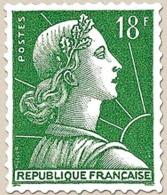 Marianne De Muller, Type II. 18f. Vert Foncé (II). Neuf Luxe ** Y1011A - Unused Stamps