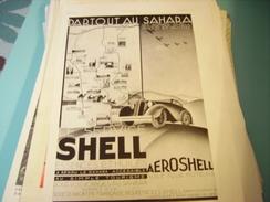 ANCIENNE PUBLICITE SERVICE SCHELL DANS LE SAHARA 1934 - Transports