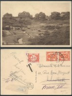 AM428 Carte Postale Taxée De Duinbergen à Bruxelles 1937 Maison Fermée - Souvenir Cards
