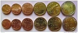 Azerbaijan- Aserbaidschan Set Of 6 Coins 2006 (1+3+5+10+20+50 Qapik) UNC (1 Coin - Bimetal) - Azerbaïjan