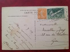 Daguin ANNECY Sur Olympiade Et 5c Jaune Cpa Dents De LANFON - 1921-1960: Modern Period