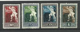 LETTLAND Latvia 1919 Michel 36 - 39 MNH - Letonia