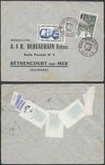 A391 France Lettre De Rouen à Béthencourt Sur Mer   1958  - Héros De La Résistance - Storia Postale