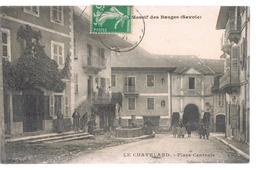 LE CHATELARD . Place Centrale . Massif Des Bauges . - Le Chatelard