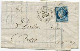 PUY DE DOME De CLERMONT FERRAND  GC 1053 Sur N°45 Report 1 Sur LAC Du 23/12/1870 - 1849-1876: Periodo Clásico