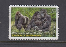 Australia 2016 Endangered Wildlife - Western Lowland Gorilla - Die Cut Used