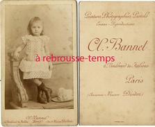 CDV Mode Enfant-fillette Robe Dentelle-bottines-photo BANNEL Ex Disréei Bld Des Italiens à Paris - Fotos