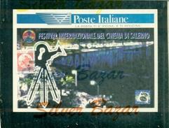 CARTOLINE POSTE-VARI LOGHI POSTE-SALERNO-FESTIVAL DEL CINEMA-MARCOFILIA - Tarjetas Filatélicas